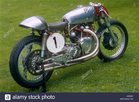Vincent Nero Classic Racing Sprint Motorcycle Stock Photo