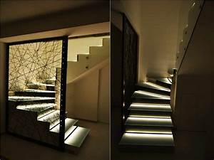 delle scale illuminate creativamente con strisce led strisce led Pinterest LED