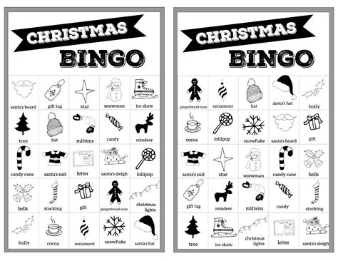 Check spelling or type a new query. Free Christmas Bingo Printable Cards - Paper Trail Design