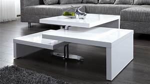 Table Basse Rectangulaire Blanche : table basse design blanche modulable en bois mdf durban gdegdesign ~ Teatrodelosmanantiales.com Idées de Décoration