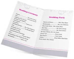 wedding bulletin template 5 design ideas for wedding program printing