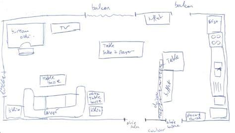 plan de cuisine ouverte repeindre salon et cuisine ouverte