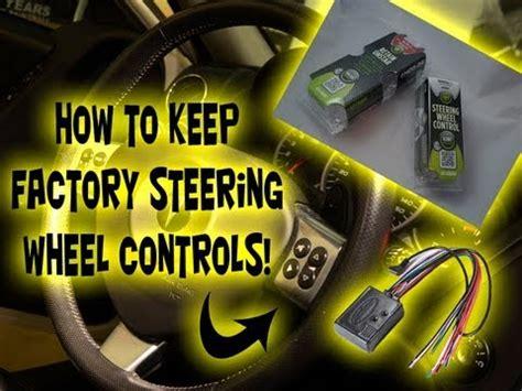 factory steering wheel controls  aftermarket