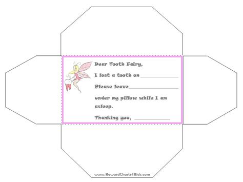 Free Printable Tooth Letter Template by Tooth Certificate