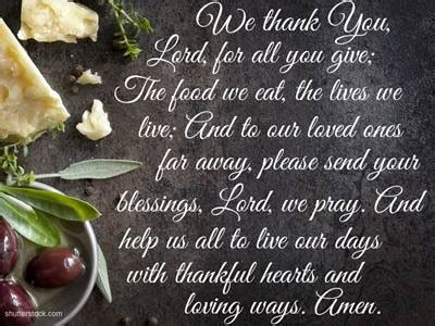 great  quick prayers  meals thankful hearts