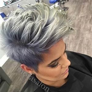 Grau Silber Haare : grau und silber sind absolut im trend kurzhaarfrisuren frauen frisuren beauty fashion ~ Frokenaadalensverden.com Haus und Dekorationen
