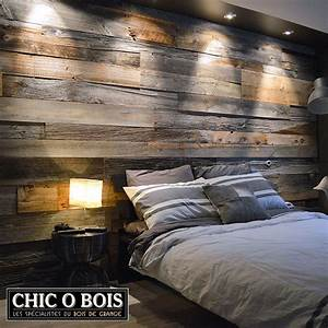 Deco Mur En Bois Planche : r alisations de mur en bois de grange ~ Dailycaller-alerts.com Idées de Décoration