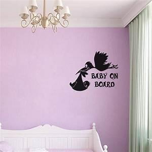stickers pour les bebes sticker cigogne avec un bebe With chambre bébé design avec envoyer des fleurs pour noel