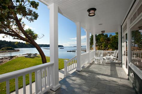 waterfront estate traditional porch vancouver