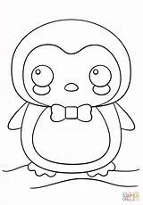 Coloring Penguin Pages Printable Kawaii Pdf sketch template