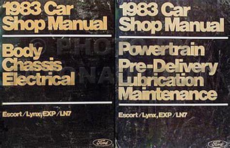 1987 ford shop manual set escort lynx exp tempo topaz 87 mercury service repair ebay 1983 ford escort exp merc lynx ln7 repair shop manual set original