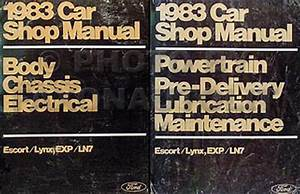 1983 Ford Lincoln Mercury Service Specifications Book Original