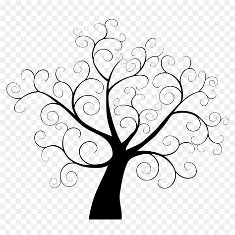Tree Template Black And White by Tree Fingerprint Template Guestbook Clip Art 2017 Black