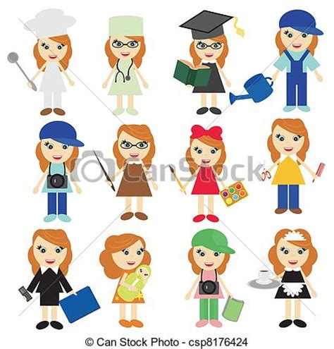 12343 college and career clipart black and white different on white background vector eps vector