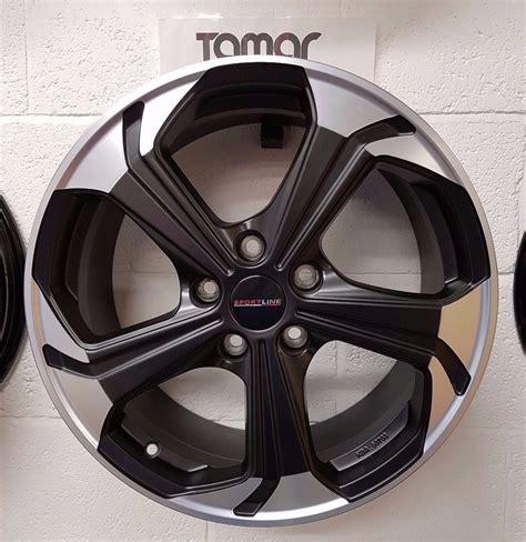 volkswagen transporter vw t6 genuine sportline alloy wheels 18 satin black ebay