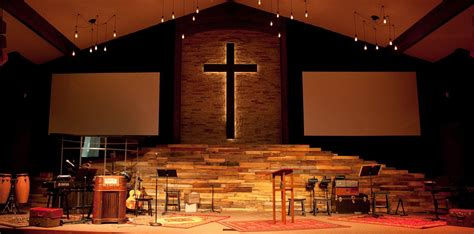 vintage warmth church stage design ideas