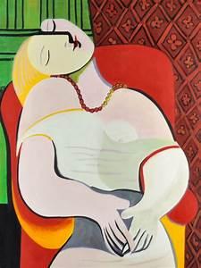 Pablo Picasso, Il Sogno, dipinto olio su tela cm 45x60 (CP010), Ministry Of Shop: Pablo Picasso
