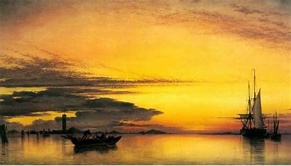Oil Painting Backgrounds Wallpapers Desktop Background Sunset