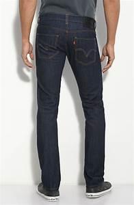 Levi's 511 Skinny Dark Blue Jeans in Blue for Men | Lyst
