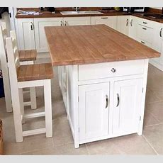 Bespoke Hand Made Kitchen Island With 2 Stools Made To