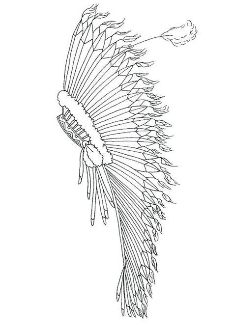 dibujo  colorear adorno  la cabeza  plumas