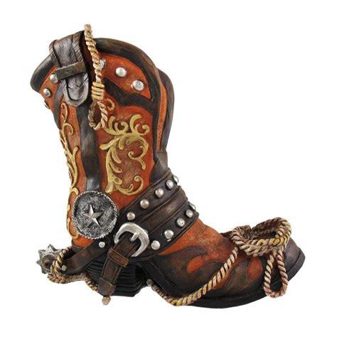 western horse cowboy boots wine bottle holder guzzler bar