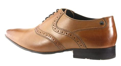 Brown Shoes : Base London Pointed Toe Tan Brown Black Lace Up Mens Shoes