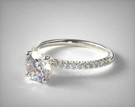 Petite Pave Engagement Ring (flush Fit)