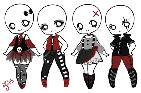 Punk/Goth/Emo F2U Outfits! by Smelly-Mouse on DeviantArt