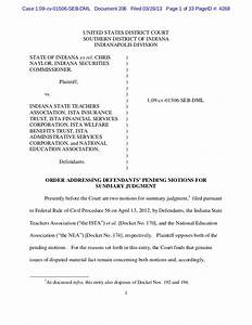 ruling on ista summary judgment With summary judgment motion template