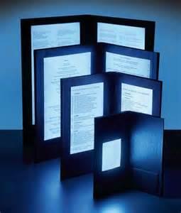 guest check presenters led back lit menus nightclubshop
