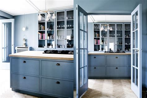 light blue kitchen accessories 29 beautiful blue kitchen design ideas 6958
