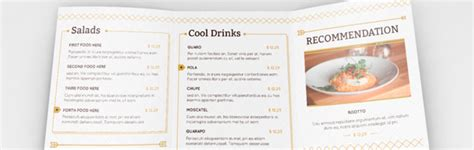 Tri Fold Take Out Menu Template Google Docs Deli by Tri Fold Menu Template Multi Purpose Tri Fold Menu Card
