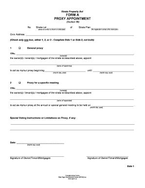 proxy appointment form fill printable fillable
