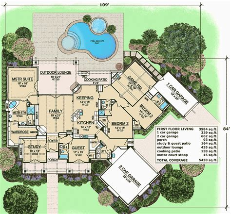 Outdoor Living Floor Plans by One Level Living With Outdoor Lounge 36396tx