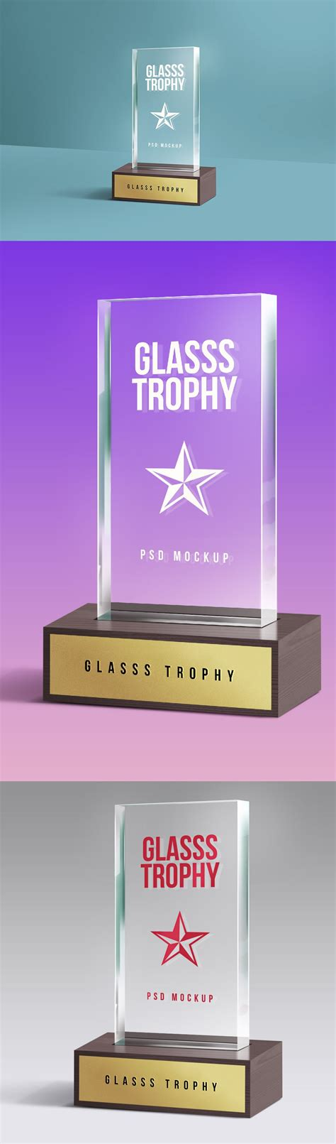 Including multiple different psd mockups like samsung galaxy, laptop, tablet, smartphone, pc and computer display/screen mockups. Glass Trophy MockUp PSD Template - WooSkins