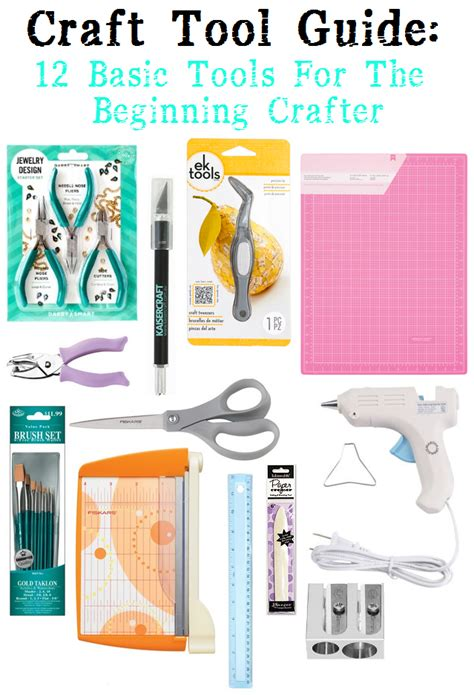 craft tool guide  basic tools   beginning crafter