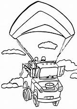 Parachute Coloring sketch template