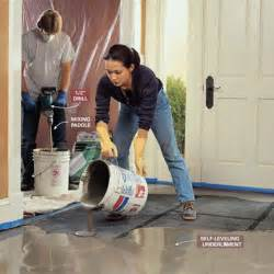 leveling uneven concrete floors tips how to build a house