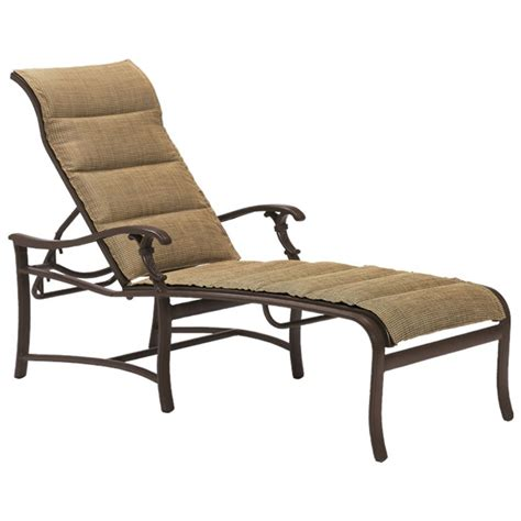 chaise promo tropitone 650732ps ravello padded sling chaise lounge