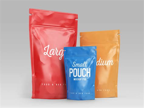 Free for personal and commercial use zip file includes. Free Stand-up Pouch (Doypack) Food Packaging Mockup PSD ...