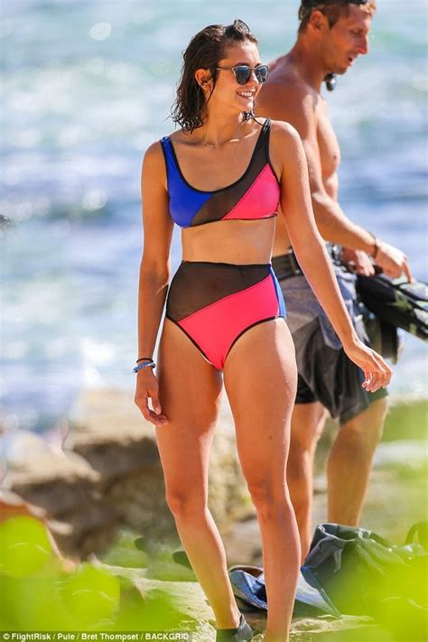 Nina Dobrev shows off figure in THREE different swimsuits ...
