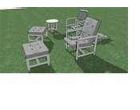 pvc outdoor patio furniture plans woodworking projects