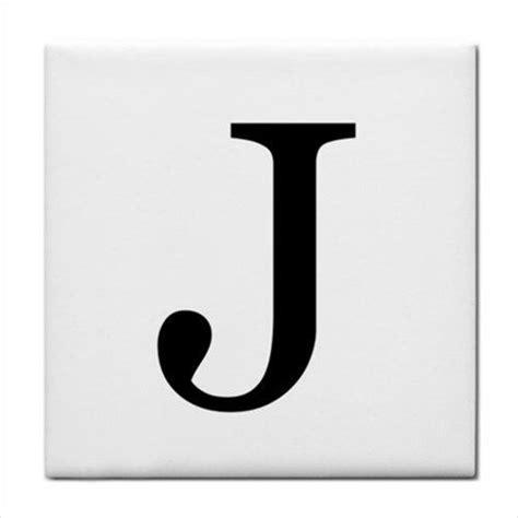 ceramic tile letter j alphabet georgia font ebay
