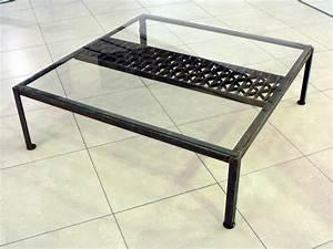 Table Basse Metal Verre : tables de salon tables basses metal design loft ~ Mglfilm.com Idées de Décoration