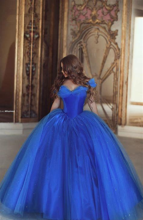amazing royal blue organza ball gown quinceanera dresses
