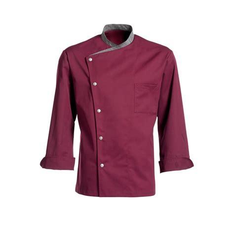 veste cuisine couleur veste de cuisine juliuso prune ml