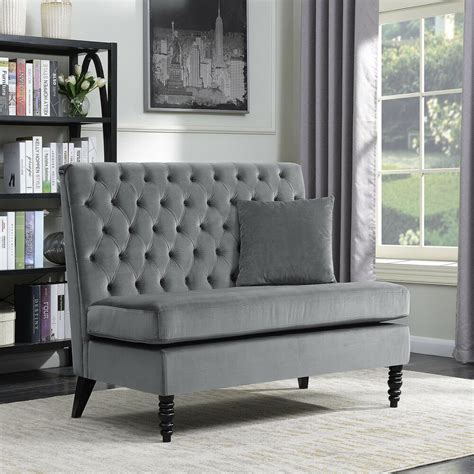 settee bench new modern tufted settee bedroom bench sofa high back