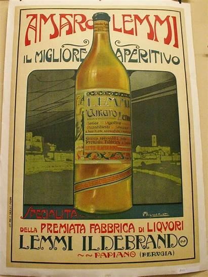 Italian Poster Advertising Lemmi Amaro Aperitif Posters