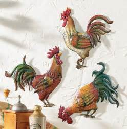 country kitchen canisters country kitchen rooster theme decor set of 3 metal rooster wall decor ebay
